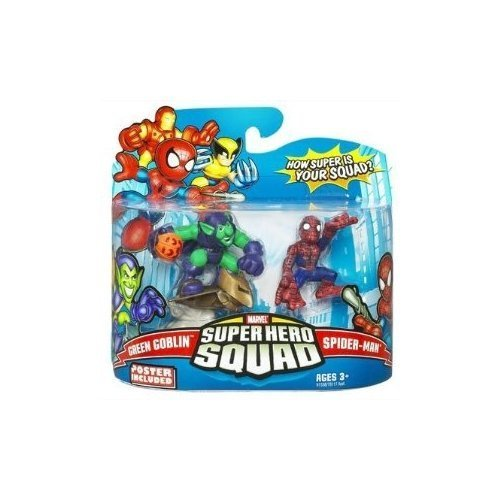 Marvel Superhero Squad Series 14 Mini 3 Inch Figure 2-Pack Spider-Man and Green Goblin by Hasbro