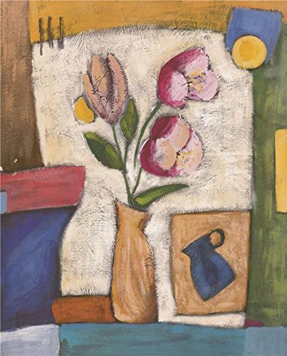 Oil Painting 'Pink Flowers', 10 x 12 inch / 25 x 31 cm , on High Definition HD canvas prints