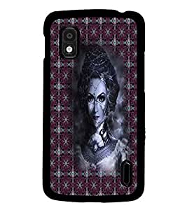 PrintDhaba Vamp D-3009 Back Case Cover for LG GOOGLE NEXUS 4 (Multi-Coloured)