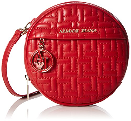 Armani JeansC5284T9 - Borse a Tracolla Donna , Rosso (Rot (ROSSO - RED 4Q)), 5x18x18 cm (B x H x T)