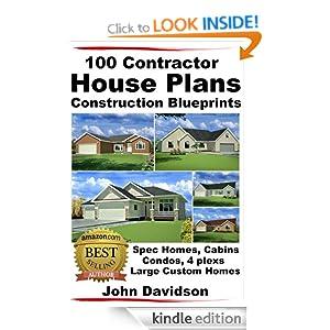 100 Contractor House Plans Construction Blueprints Spec