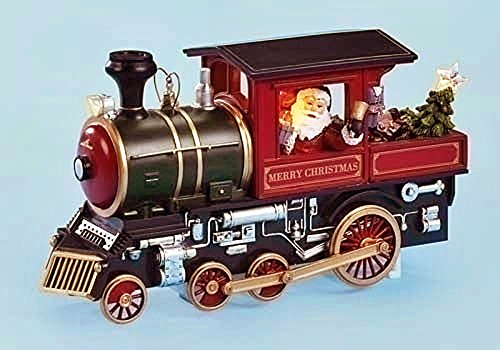 Santa Driving a Train - Lighted, Musical & Animated Christmas Decoration