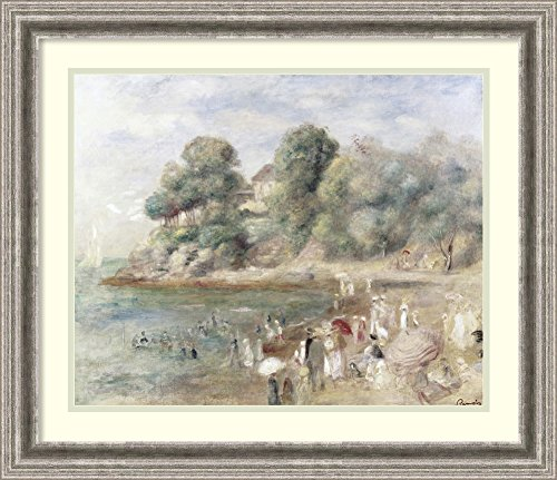 Framed Art Print 'The Beach at Pornic, 1892' by Pierre-Auguste Renoir