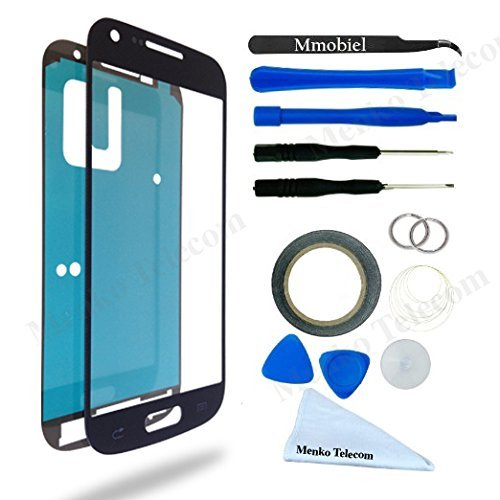SAMSUNG GALAXY S4 MINI i9195 i9190 i435 L520 R890 Black Display Touchscreen Replacement Kit 14 Pieces Including 1 Replacement Front Glass For SAMSUNG GALAXY S4 MINI Black / Pre Cut Adhesive Sticker / 1 Pair Of Tweezers / 1 Roll Of 2MM Adhesive Tape / 1 Tool Kit / 1 Microfiber Cleaning Cloth / Suction Cup / Wire (Samsung Galaxy S4 Mini Kit compare prices)