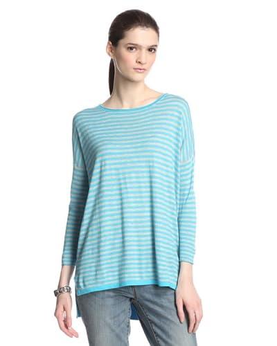Kokun Women's Cashmere Blend Striped Pullover