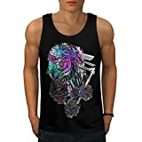 Robotic Tenderness Flower Mode Men NEW M Tank Top | Wellcoda