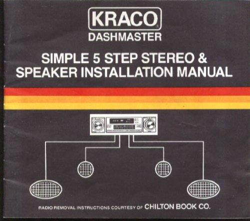 Kraco Dashmaster Car Stereo & Speaker Manual 1983
