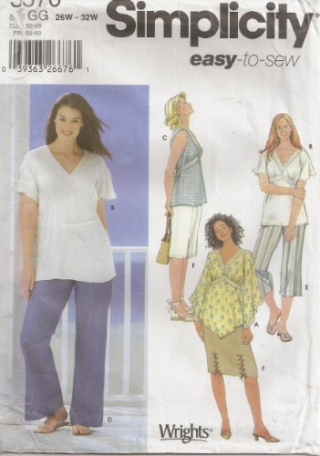 Simplicity 5570 Sewing Pattern Full Figure Top Pants Skirt Plus Size 26 - 32
