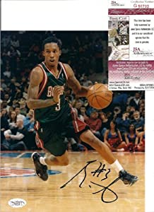 Brandon Jennings Milwaukee Bucks Autographed Signed 8x10 Photo W JSA by Hollywood Collectibles