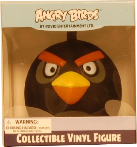 "Angry Birds 3"" Collectible Vinyl Figure Black Bird - 1"