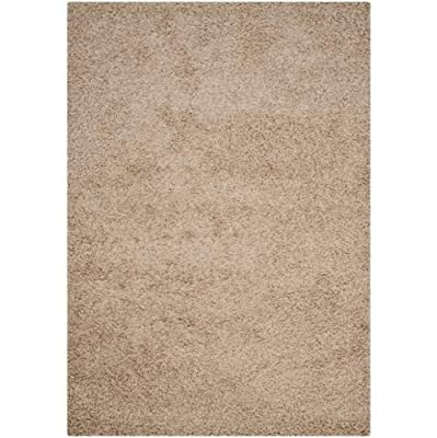 Safavieh Athens Shag Collection SGA119A Brown Area Rug, 4 feet by 6 feet (4' x 6')
