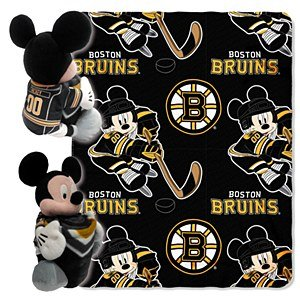 Nhl Boston Bruins Mickey Mouse Throw Set front-1022885