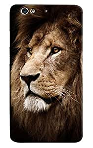 Omnam Lion Face Printed Designer Back Cover Case For Gionee S6