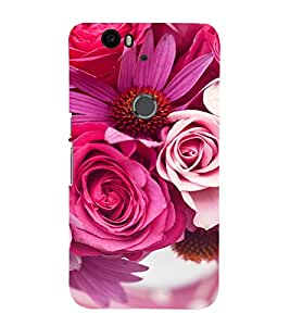 EPICCASE Pink roses Mobile Back Case Cover For Huawei Nexus 6P (Designer Case)