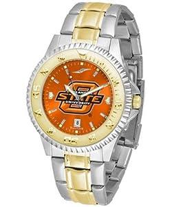 Oklahoma State Cowboys OSU NCAA Mens Two-Tone Anochrome Watch by SunTime