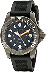 Victorinox Swiss Army Dive Master Black Dial SS Rubber Quartz Men's Watch 241555