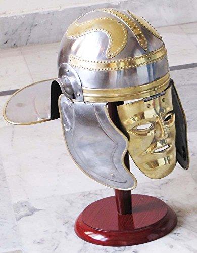 surin-shakti-entreprises-medieval-cavalerie-romain-centurion-casque-gaulois-en-laiton-visage-heaume-