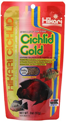 Hikari Cichlid Gold Floating Baby Pellets For Pets, 2-Ounce