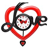 GATTS Red High grade Plastic Wall Clock for your LOVE