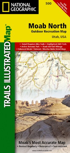 Moab North, Utah Outdoor Recreation Map (National Geographic Maps: Trails Illustrated)