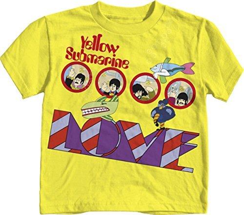 Rock-And-Roll-beb-Camiseta-de-la-camiseta-de-las-muchas-opciones-para-elegir-4-nio-pequeo-Beatles-Amor-Amarillo-color-Beatles-Amor-Amarillo-Tamao-4T-BabyBabeInfant-Little-Ones