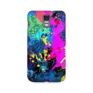 Mobicture Artful Splatter Premium Printed Case For Samsung S2 I9100/9108