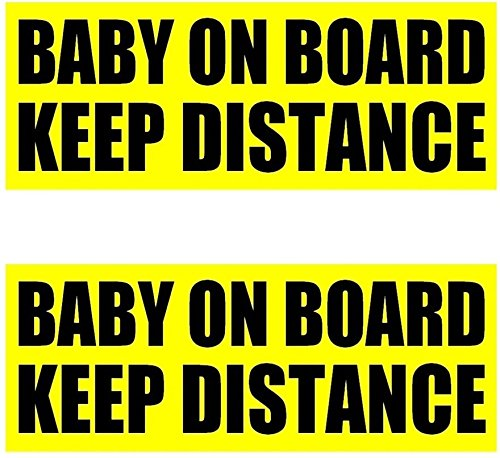 2 Pack Baby On Board Keep Distance Bumper Sticker Sign Free Shipping