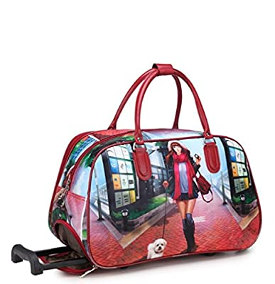 EASYJET, WOMENS & GIRLS, LIGHTWEIGHT 18/19 (High Quality Fashion) Travel Bags Holdall Hand Luggage Womens Weekend Handbag Wheeled Trolley Size: H30 x W48 x D23 cm