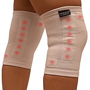 Medipaq® Magnetic Knee Support (Small/Medium) - S-T-R-E-T-C-H-A-B-L-E - Relieve Stiffness & Fatigue When You Need It - Ultimate 16 Magnet Compression Design