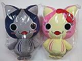 カツオにゃんこBIGぬいぐるみ2種セット(ブルー・ピンク)