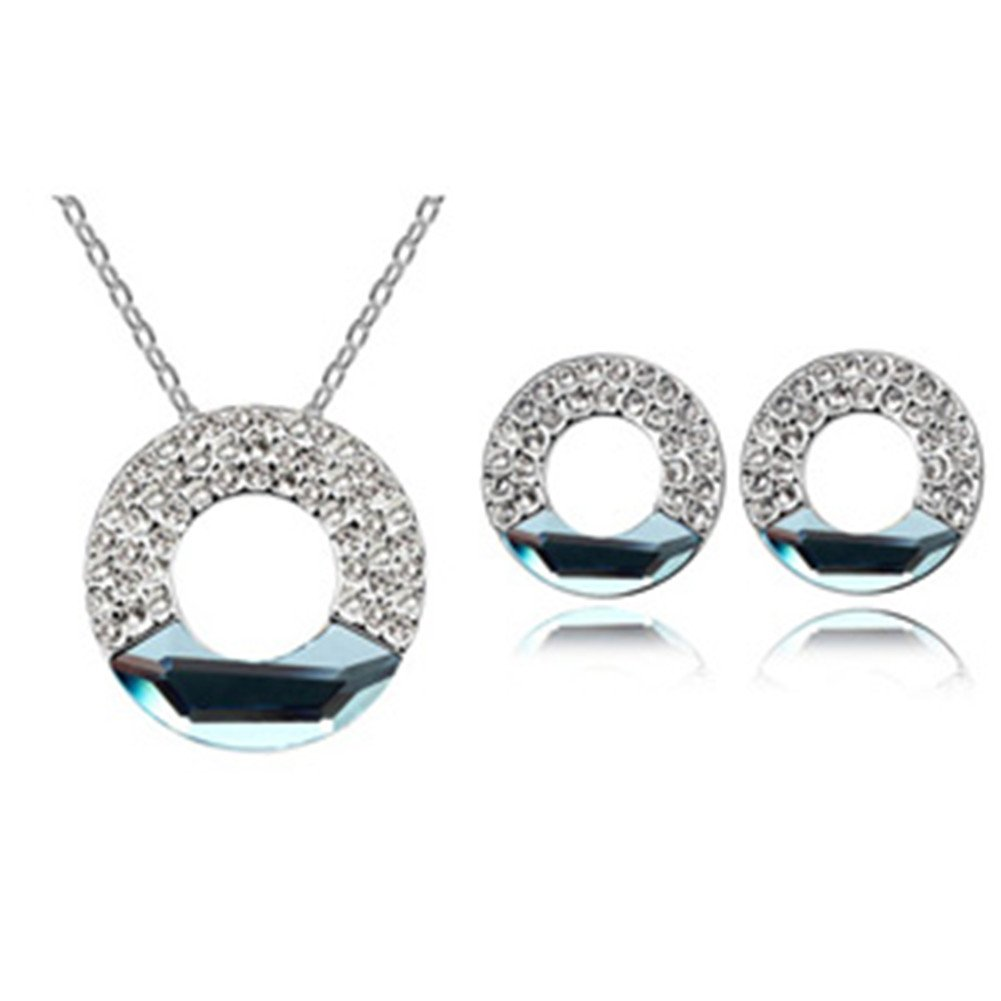 Swarovski Elements Austrian Crystal Jewelry Sets Necklace And Earring image