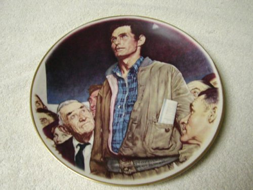 """Norman Rockwell """"Freedom of Speech"""" 1976 Limited in Edition Collector Plate"""