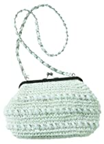 Cappelli Straworld Toyo Shoulder Bag with Beaded Details By Bonnie Rubel (White)