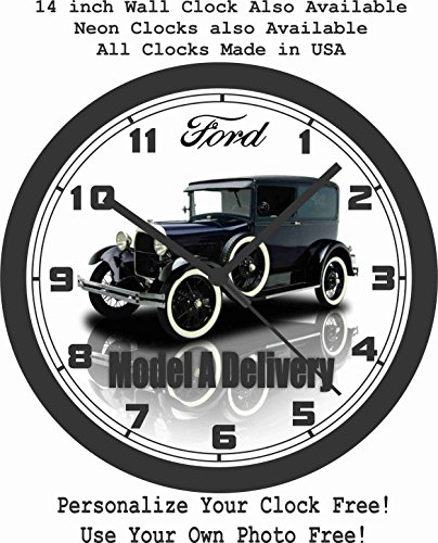 1929 FORD MODEL A DELIVERY SEDAN WALL CLOCK-FREE USA SHIP! (Pontiac Sedan Delivery compare prices)