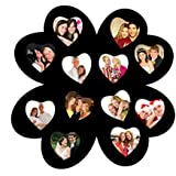 Trendzy 12-in-1 Hearts In Hearts Collage Wall Hanging Photo Frame (58.4 Cm X 1.1 Cm X 58.4 Cm, Black Matte Finish)
