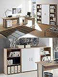 Arbeitszimmer mit Winkelschreibtisch komplett Set Office Line mit Highboard in