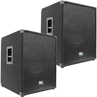 "Seismic Audio - Aftershock-18Pair - Pair of Powered PA 18"" Subwoofer Speaker Cabinets from Seismic Audio"