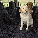 tierlando® Autoschondecke, Autoschutzdecke, Hundedecke, mit Reißverschluß teilbar, 180 x 140 cm, Schwarz - SMR-180-03