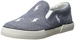 Polo Ralph Lauren Kids Bal Harbour Fashion Sneaker (Toddler/Little Kid), Light Blue/White, 7.5 M US Toddler