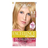 L'Oreal Paris Excellence Hair Colour Kit, Natural Golden Blonde Number 8.3 - Pack of 3