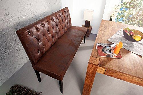 Sitzbank-OXFORD-hohe-Rckenlehne-mit-Knpfen-Mikrofaser-antik-braun-165cm-englischer-Stil