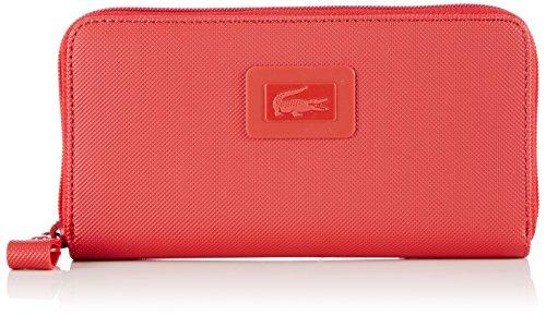 Lacoste NF1262WM Portofoglio da Donna, Taglia 19x10x2 cm, Colore Rosso (CLIFF/CHINCHILLA-CLIFF 018)