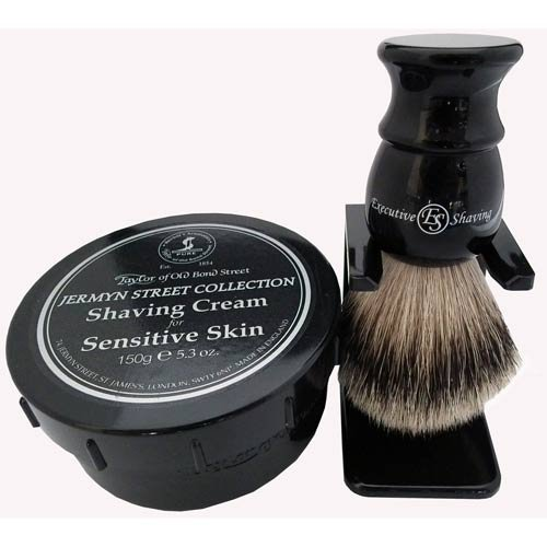 Jermyn Street Sensitive Skin Shaving Cream and Brush Set