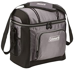 Coleman 16-Can Soft Cooler With Hard Liner, Gray