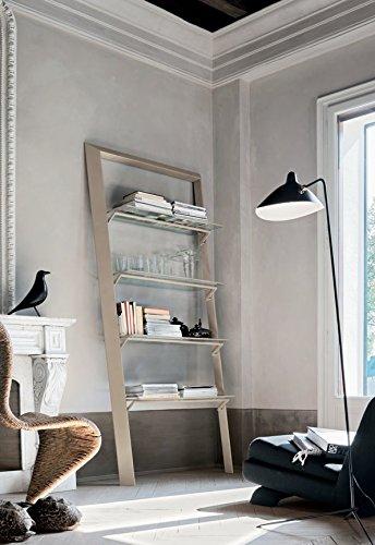 Book Libreria con mensole in vetro design soggiorno sala - Corda cm.100