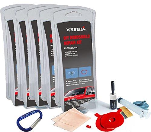 Visbella Windshield Repair Kit Pack of 5 for 10 Chips (Windshield Rock Chip Repair Kit compare prices)