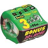 Scotch Magic Tape, 20-Percent More, 19mm x 40m (Per Roll), 3 Rolls, (810-D3)