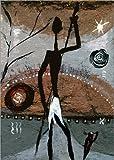 Leinwandbild 80 x 110 cm: Massai von Katarina Niksic – fertiges Wandbild, Bild auf Keilrahmen, Fertigbild auf echter Leinwand, Leinwanddruck