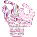 Bumkins Waterproof Super Bib, Girl, 3 Pack