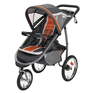 2014 Graco FastAction Fold Jogger Click Connect Stroller, Tangerine